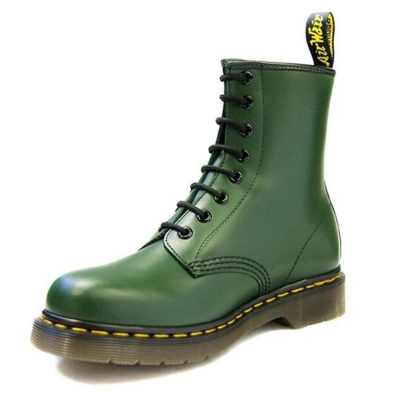 Dr Martens Green Boots 1 Mens 146